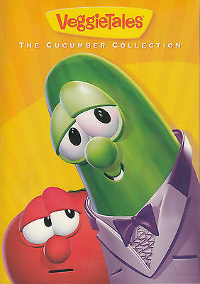 VeggieTales Cucumber Collection (3-DVD Set) WITH OUTER SLEEVE VERY GOOD