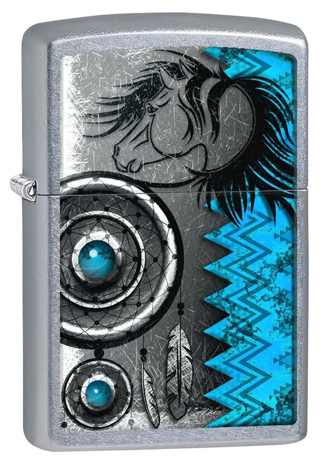 Zippo Lighter: Native American Symbols - Street Chrome 77847