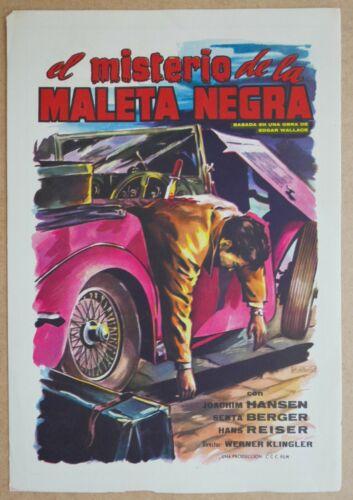 Das Geheimnis der schwarzen Koffer Das Spain press book EDGAR WALLACE mystery
