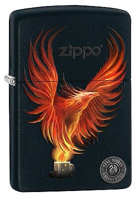 Zippo 8227, Anne Stokes-Firebird, Black Matte Finish Lighter
