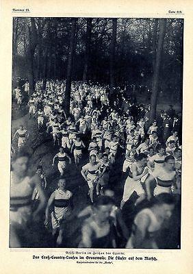 Das Croß-Country-Laufen im Berliner Grunewald 1909 * Historische Memorabile