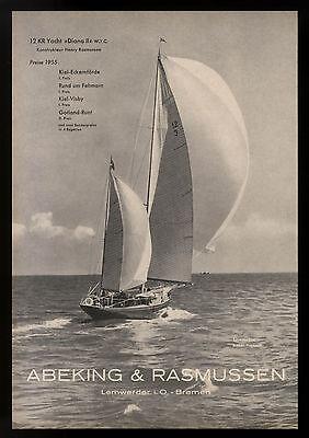 Grosse Werbung 1956 12 KR Yacht Diana II (1) Werft Abeking & Rasmussen Bremen