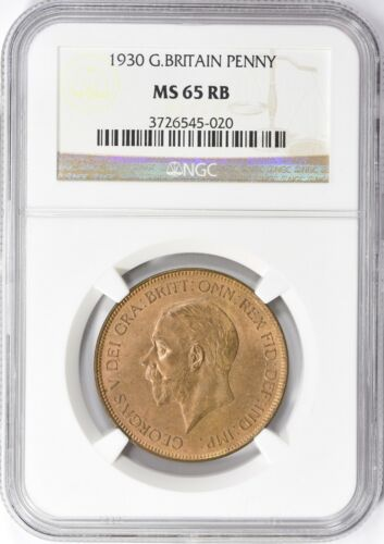 Great Britain 1930 Penny NGC MS 65 RB