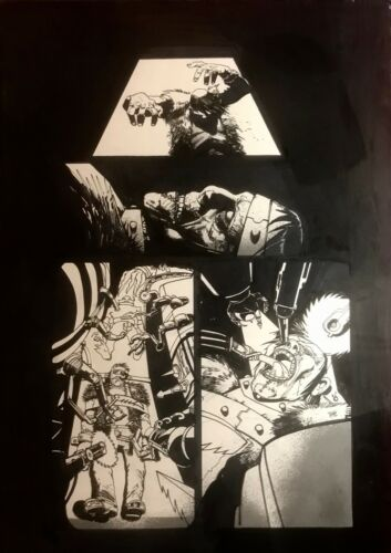 Frankenstein Simon Bisley Original Art Fear Itself Fearsome Four #2 Pg, Origin
