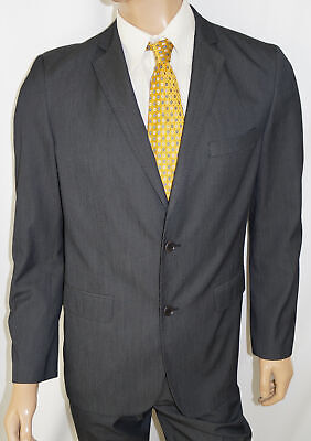 42R ZARA MAN 2-Piece Suit - 42 Charcoal Pinstripe Jacket Blazer Coat Pants 36x32