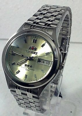 Orient Men's Faceted Crystal   Automatic Silver Watch
