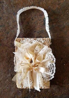 Rustic Chic Wedding Decor Salvaged Wood Ornament  Christmas Ornament   ()