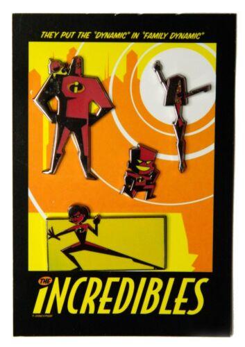 The Incredibles - Stylized 4 Disney Pin Set w/ Mr. & Mrs. Incredible Violet Jack