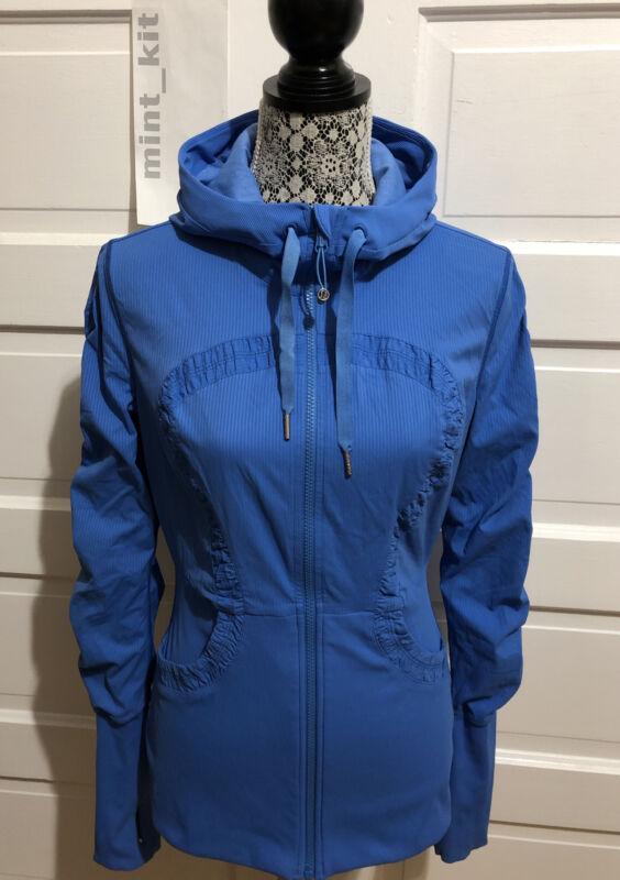 LULULEMON Dance Studio Jacket Size 10 Cornflower Blue Reversible $128