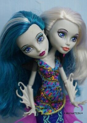Monster High Peri and Pearl GREAT SCARRIER REEF Dolls with outfits - Monster High Dolls Outfits