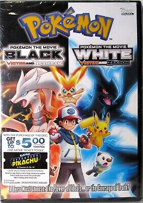 POKEMON BLACK THE MOVIE & POKEMON WHITE MOVIE - Victini & Reshiram (DVD) >NEW