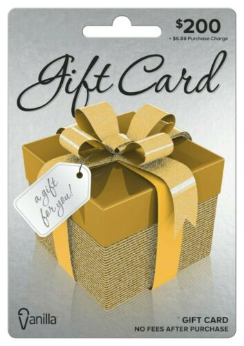 $200 GIFT CARD. No Fees. FREE Shipping. Ready to use!!