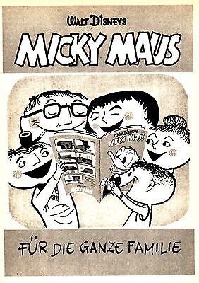 1954 Micky Maus Walt Disney Familie ca. 14x20 cm original Printwerbung