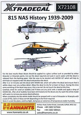 1:72 Xtradecal X72108 Fleet Air Arm / FAA 815 RNAS 1942-2009 11 Markings