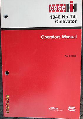 Case - Ih 1840 No-till Cultivator Operators Manual Factory Original Oem 1993