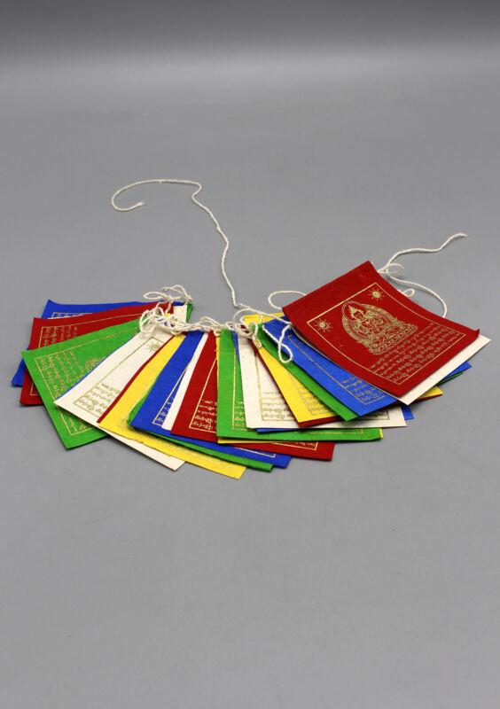 Mini Chenrezig Prayer Flag, Paper Tibet Flag, Buddha Om Mani Prayer Flags PF089