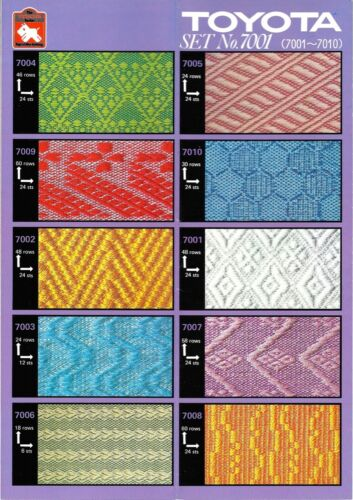 Toyota PUNCHCARDS - CARD SET 7001 Weaving **NEW** 10 Cards NO. 7001-7010