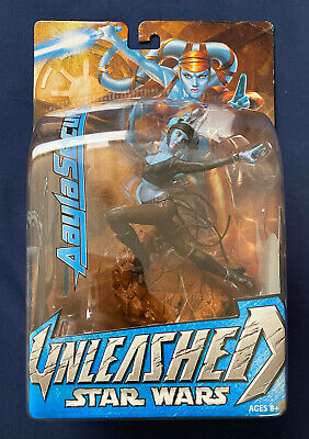2004 Star Wars Aayla Secura Unleashed Figure Statue Factory Sealed New MIP