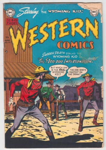Western Comics #24, LEONARD STARR, WYOMING KID, DC 1951 Fair/Good  r