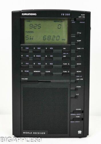Grundig Yacht Boy YB500 Shortwave AM FM Radio Receiver w/ Boost Audio