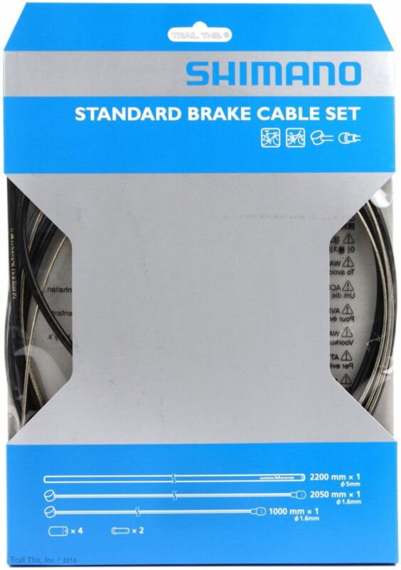Shimano Standard Brake Cable Set / Kit w/ Black Housing for MTB or Road Bicycle