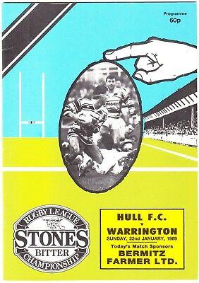 Hull FC v Warrington 1988/9 (22 Jan)