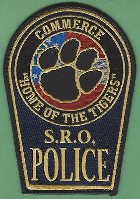 COMMERCE GEORGIA POLICE SCHOOL RESOURCE OFFICER PATCH