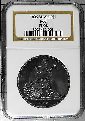 Click now to see the BUY IT NOW Price! PROOF PF62 1836 GOBRECHT SILVER DOLLAR $1 J-60 NGC US COINS  UNCIRCULATED