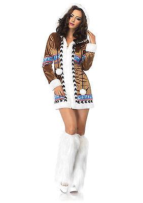 Sexy Halloween Adult Igloo Cutie Eskimo Girl Costume