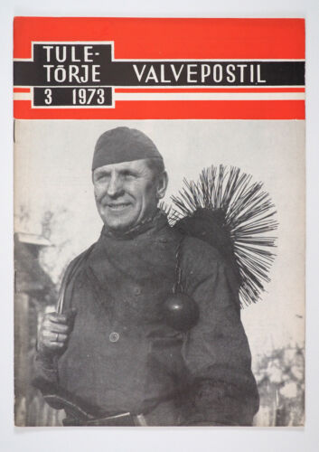 1973 Soviet Russian FIREFIGHTING Vintage Magazine CHIMNEY SWEEP photo on cover