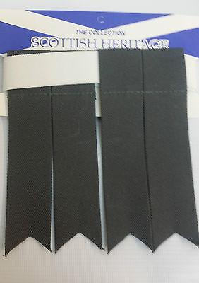 Plain Grey Sock Flashes 4 Sporrans & Kilts