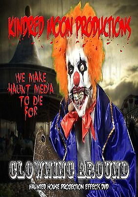 Clowning Around  Projection Effects DVD Haunted  House Halloween  prop
