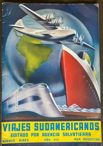 Striking Color Deco Grephic Brochure about Travel to South America - Viajes Suda