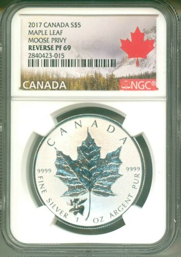 2017 Canada S$5 Maple Leaf Moose Privy NGC Reverse Proof PF69