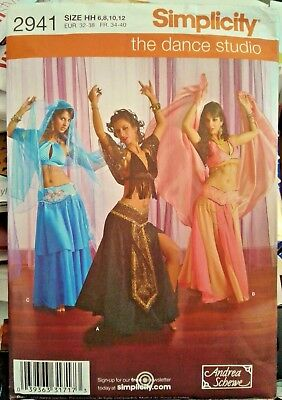 Simplicity 2941 Belly Dancer Harem Costume Esmeralda Halloween Gypsy Sew Pattern - Plus Size Belly Dancer Halloween Costume