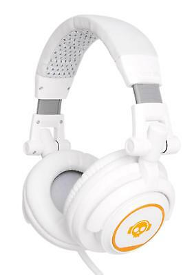 CUFFIE DJ PA BASS HEADPHONES STUDIO PROFESSIONALI ARCHETTO FLESSIBILE BIANCO