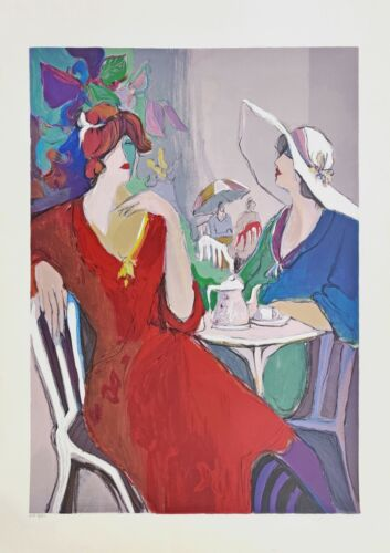"""Isaac Maimon """"two Women"""" 1989   Large Signed Serigraph 41 X 29""""   Make An Offer"""