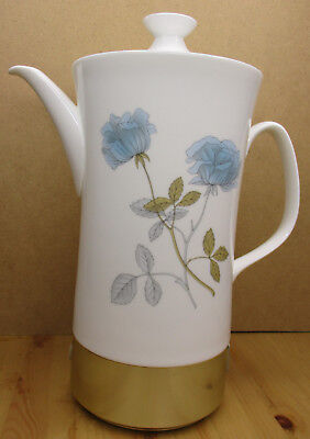 Vintage Bone China Wedgewood and Russell Hobbs Electric Coffee Pot - Ice Rose
