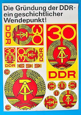 DDR Plakat Poster 913 | Gründung der DDR 1949 DEWAG 1979 | 81 x 58 cm Original