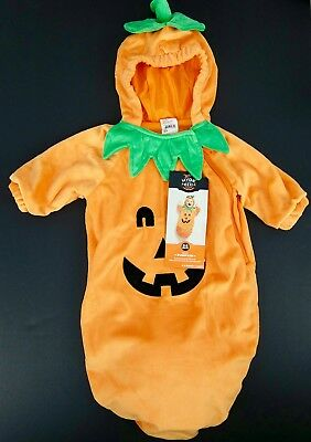 Halloween Baby Bunting Padded Sack with Hood Pumpkin Costume Size 0-6 Month