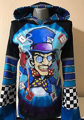 DiY Mad Hatter Hoodie Alice In Wonderland Goth Unique Regular or 1X Plus Size ()