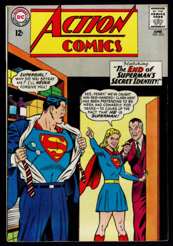 1964 DC Action Comics #313 FN Superman Supergirl