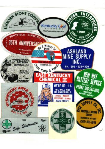 NICE LOT OF 13 KENTUCKY COMPANIES COAL MINING STICKERS # 70
