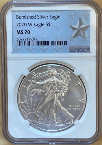 2020 W Burnished Silver American Eagle $1 NGC MS70 West Point Silver Star *SALE*