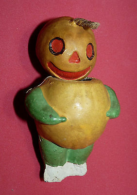 Halloween Pumpkin Jack o Lantern Antique Germany Candy Container German