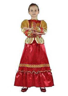 Russian Girl Costume (Russian Cossack Girl Carnival Costume KAZACHKA Traditional Kozak Kids Skirt)