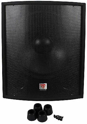 "Rockville SBG1188 18"" 1000 Watt Passive Pro DJ Subwoofer, MDF Cabinet/Pole Mount"