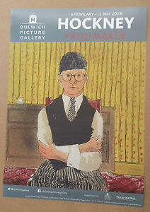 David Hockney RA Poster Dulwich gallery Printmaker Exhibition 2014 self portrait