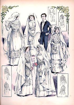 6 Victorian Edwardian Wedding Dress Design Reproduction  Bride Fashion Prints