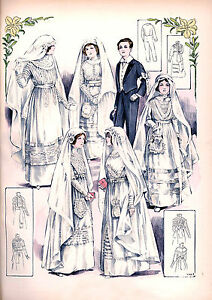 Victorian-Edwardian-Wedding-Dress-Design-Fashion-Prints